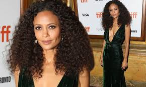 Thandie Newton wows in <b>slashed</b>-to-the-<b>waist</b> green gown at TIFF ...