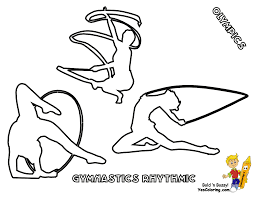 Gymnastics Coloring Sheets Apparatus Gymnastics Colouring Pages