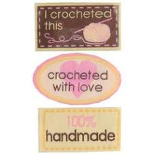 Image result for handmade crochet tags