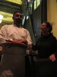 Chef Misael Reyes with Casey Shaughnessy-Gray of Glodow Nead. Chef Reyes, who is originally from El Salvador, was once Francis Ford Coppola's personal chef. - img_41862