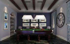 image of sports club billiard room decoration billiard room lighting