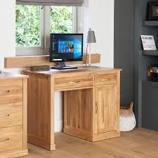 Mobel Solid Oak Furniture <b>Single Pedestal Computer Desk</b>