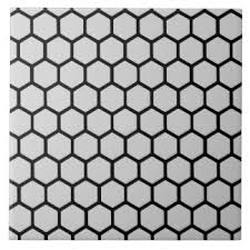 Image result for black and white hexagonal tile