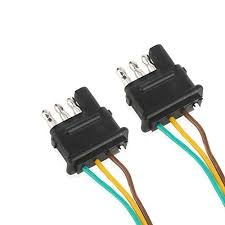 4 pin trailer connector 2 way y splitter adapter flat 4 pin connector trailer wiring harness tailgate