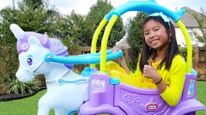 Wendy Pretend Play with <b>Unicorn Princess</b> Carriage Ride-On Toy ...