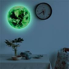 20cm 3D Wall Stickers for Kids Room <b>Luminous Moon Star</b> Earth ...