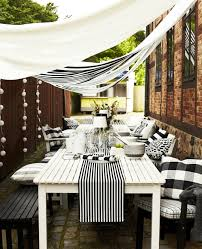 ikikea garden furniture outdoor mbelset white dining table wooden chairs seat sun shade black and white outdoor furniture