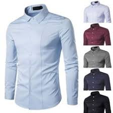 WM & MW <b>Personality Mens</b> Hoodie Shirt Slim Long Sleeve Button ...