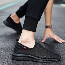 VANGOO Men's Sports Shoes <b>Summer Fly Woven</b> Single Net ...