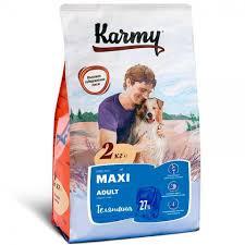 <b>Корм Karmy Maxi</b> Adult для Собак Крупных Пород с Телятиной ...