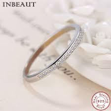 <b>INBEAUT 925</b> Sterling <b>Silver</b> Clear Zircon Ring Women Trendy Cute ...