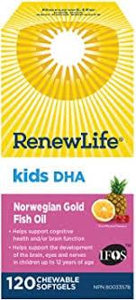 Renew Life <b>Kids</b> DHA <b>Norwegian Gold</b>, Fish Oil, Daily Vitamin and ...