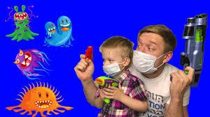 <b>Мика</b> и <b>Детская</b> История о вирусах / Дети оставайтесь дома ...