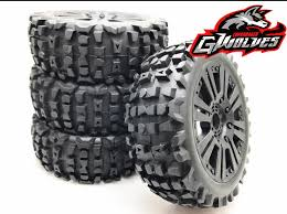 4pc GWOLVES <b>1/8 RC Buggy Scale</b> Truck Off Road Tyre <b>Banner</b> ...