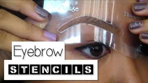 How-To: Use Eyebrow Stencils - YouTube