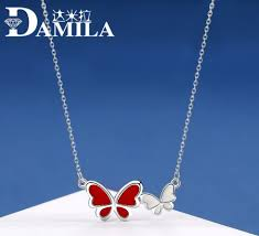 Damela <b>S925 pure</b> silver creative design drop glue Butterfly ...