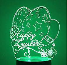 3D Night Light for Kids Colorful <b>Christmas Star Egg</b> Shape Led Desk ...