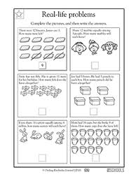 1st grade Math Worksheets: Addition and subtraction word problems ...Skills