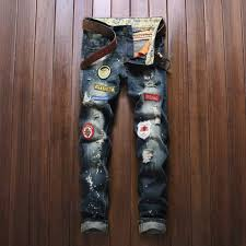 <b>2019</b> Jeans <b>Men's</b> Warm Male Jeans <b>Men Ripped</b> Denim Trousers ...