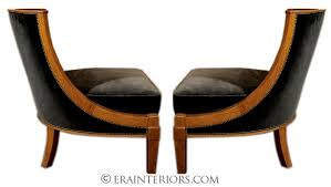 pair of andre arbus lounge chairs art deco office furniture