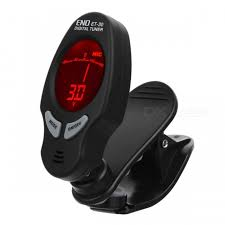 ET-30 Clip-on Digital Tuner with Backlit for Guitar / Bass / Chromatic ...