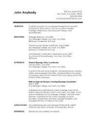 massage resumesample massage resume