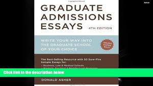 popular book graduate admissions essays fourth edition write 00 16