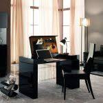 ecblack home office desk modern table chair working wood decoration furniture design hanting of black stunning black home office desk