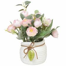 <b>Цветок искусственный декоративный</b> Букет роз в кашпо Y6-2053 ...