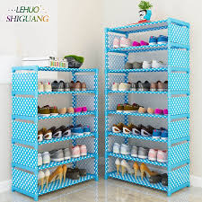 new arrival nonwovens multiple layers shoe rack with handrail easy assembled shelf storage organizer stand holder keep room neat
