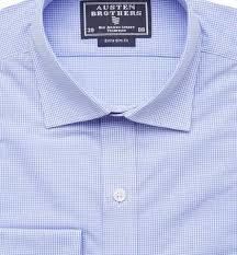 Ready Made - Blue <b>Mini</b> Check Shirt - Extra <b>Slim Fit</b>