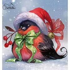 5D <b>Diamond Painting Christmas</b> Hat Penguin Wall Painting ...