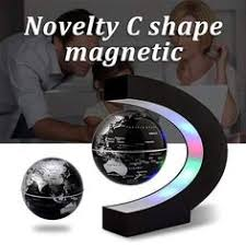 2019 Novelty Floating Globe Magnetic Levitation <b>Light C Shape</b> ...