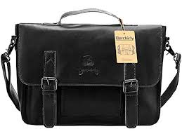 Vintage Leather Briefcase, Berchirly PU Leather ... - Amazon.com