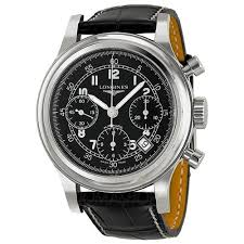 Longines Heritage <b>Chronograph</b> Black Dial <b>Mens Watch</b> L27454534 ...