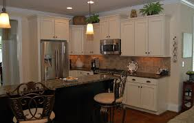 kitchen cabinets with granite countertops: off white kitchen cabinets with antique brown granite