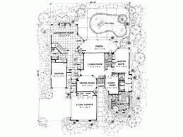 Mediterranean Modern House Plan   Square Feet and    Level