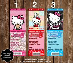 hello kitty ticket invitation template ctsfashion com novel concept designs hello kitty birthday party ticket