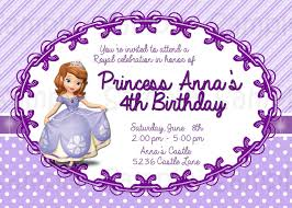 princess sofia the first birthday custom party invitation instant printable sofia the first birthday invitation design is personalized your party details emailed to you as a printable jpeg file no limit on the