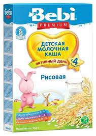 <b>Каша Bebi молочная</b> рисовая (с 4 месяцев) 250 г — купить по ...