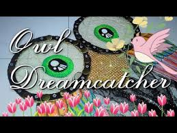 DIY <b>Owl dreamcatcher</b> / <b>wall</b> decor - YouTube