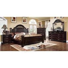 furniture of america grande 4 piece dark walnut bedroom set in on alibaba alibaba furniture
