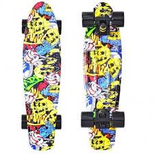 <b>Скейтборд Fishskateboard Print</b> 22 Cartoon <b>Y</b>-<b>SCOO</b>, цвет ...