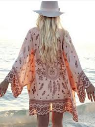 Pink Floral <b>Print</b> Beach Cover Up Bikini <b>Sunscreen</b> Bohemian ...