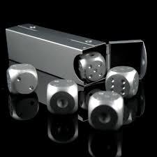 <b>High Quality Aluminium Alloy</b> Poker 5 pcs Silver Color Solid ...