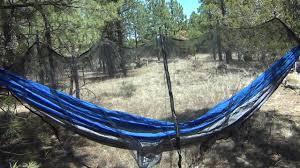 Simple 2 person <b>hammock</b> with <b>bug</b> net - Arear - YouTube