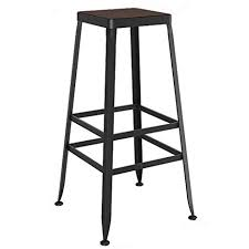 Vintage Industrial Style High Bar Stool, Solid Wood ... - Amazon.com