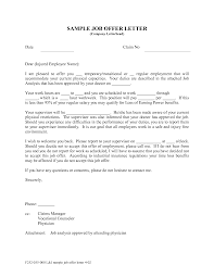 sample offer of employment letter apology letter  job