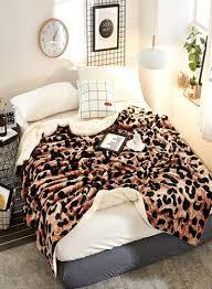 Shop Generic <b>Multifunctional Leopard Pattern</b> Casual <b>Blanket</b> ...