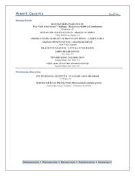 chef resume executive chef resume
